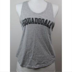 Popular Basics #Squadgoals Crop Top Gray Size M
